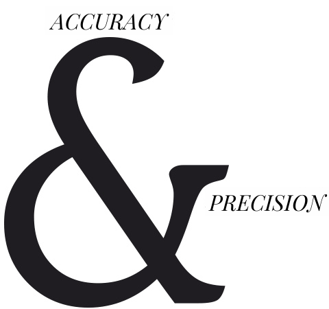 accuract and precision in trials with animals CRO
